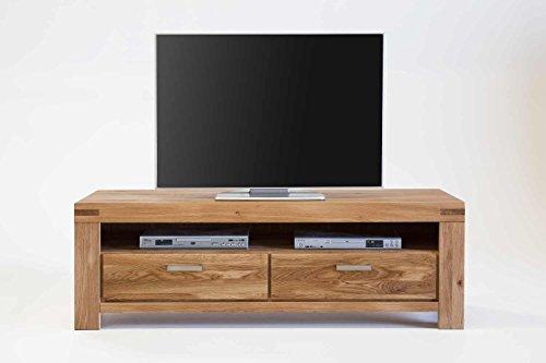 KIRA TV Kommode Lowboard Wildeiche massiv geölt B. 155cm