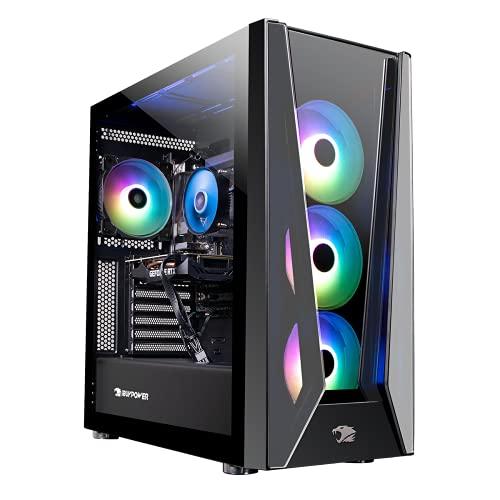 iBUYPOWER Pro Gaming PC Computer Desktop Trace 5 MR 178i (Intel i7-11700F 2.5GHz, NVIDIA GeForce RTX 2060 6GB, 16GB DDR4 RAM, 480GB SSD, 1TB HDD, WiFi Ready, Windows 10 Home)