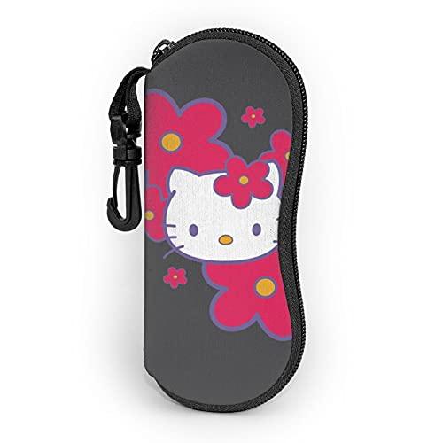 Hello Kitty - Funda para gafas, bolsa suave, ultraligera de moda, con mosquetón, gafas de sol, para hombre y mujer
