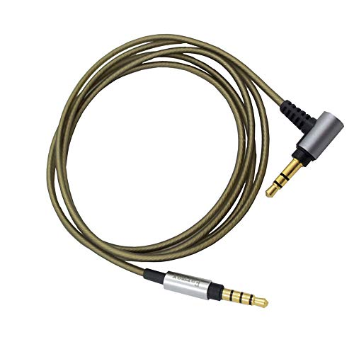 Generis 3.5mm Macho to Macho Cable - (Aux Cable) Mejorar Cable Audio Wire Línea para Eaxmax Sony MDR-1/MDR-10R/MDR-1000X/MDR-100ABN/Beats SOLO2/Audio-Technica MSR7 Auricular Elbow