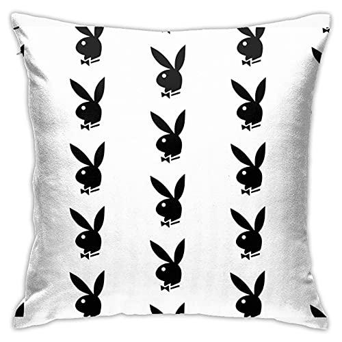 Play Boy Bunny Tapestry Pillow Case Fashion Square Pillowcase Decor...