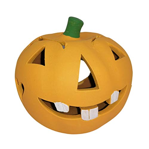 Halloween Pumpkin Tealight Candle Holder - Handmade and Hand Painted Ceramic Jack O'Lantern For Your Room or Porch