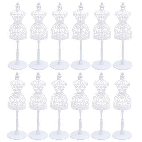 Toyvian 12 Stücke Puppenhaus Möbel Zubehör Schaufensterpuppe Mini Kleidungsmodell Minipuppen Zubehör Ausstellungsstand Spielzeug Desktop Ornament