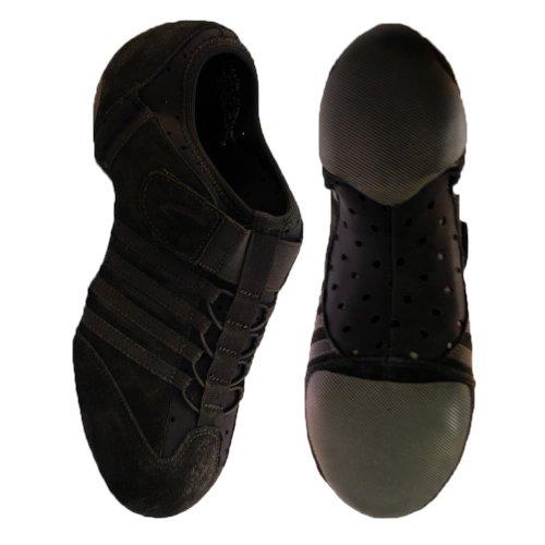 Capezio PP15 Jag Jazzschuh/Sneaker mit geteilter Eva-Sohle - Schwarz - Größe 35.5
