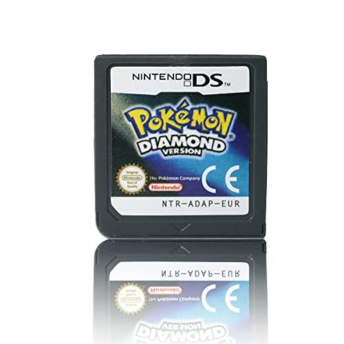 JPEEFER Cartucho de Juego para Nintendo DS REN Tian DS Pokemon Pocket Monster Platinum Diamond Pearl Juego Tarjeta DS 3D S Juego de la versión Cardio Nintendo 3DS Games Nintendo DS