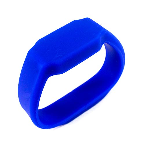 2 en 1 Reloj LED de Pulsera Silicona USB Flash Drive Memory 16GB, Impermeable (Azul)