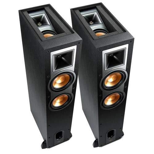 Klipsch R-26FA Dolby Atmos Floorstanding Speaker, 100W RMS Power at Main Channel, Pair, Black