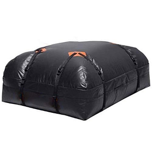 Subobo Autodachtasche - der ultimative Dachgepäckträger für alle Fahrzeug-Dachträger, LKW, Tragetasche, einzigartiges wasserdichtes Design, Schwarz, Schwarz, 111x86x33cm