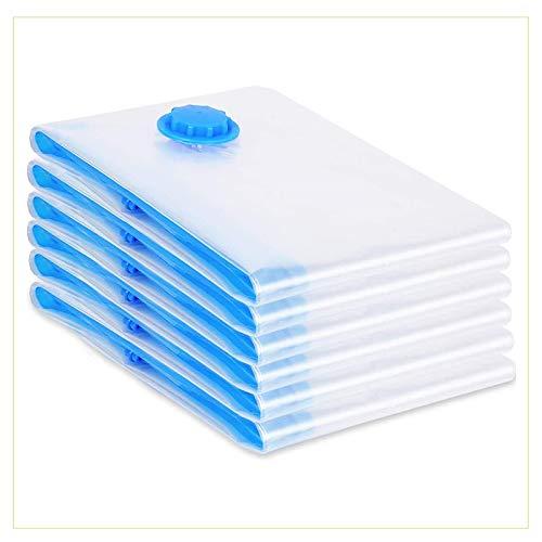 VIRSUS 6 Sacchetti sottovuoto Vestiti salvaspazio 50x60cm antitarmico Naturale antiodore Protegge da Polvere e da Cattivi odori Buste salvaspazio sottovuoto salvaspazio Armadio