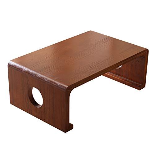 Mesa de centro pequeña Rústico Plaza Zen Mesa de café bandeja de la cama Mesa, Escritorio portátil for la cama, bandeja de la cama, duradero piso de madera Mesa auxiliar Mesa, 23.6 'x 15.7' x 11.8' me