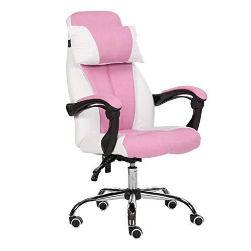 N/Z Équipement Quotidien Chaise de Bureau Chaise de Levage Famille Salon Balcon Chaise inclinable Chaises 360 degrés; Chaise d'ordinateur rotative Rose 64cm * 64cm * 125cm