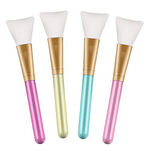 4 Stks Haarloze Siliconen Cosmetische Schrapers Gezichtsapplicator Borstels voor het aanbrengen van Modder Masker Oogmasker