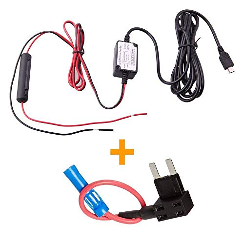 Spy Tec Dash Cam Hardwire Fuse Kit with Micro USB Direct Hardwire Car Charger Cable Kit for Dash Cameras
