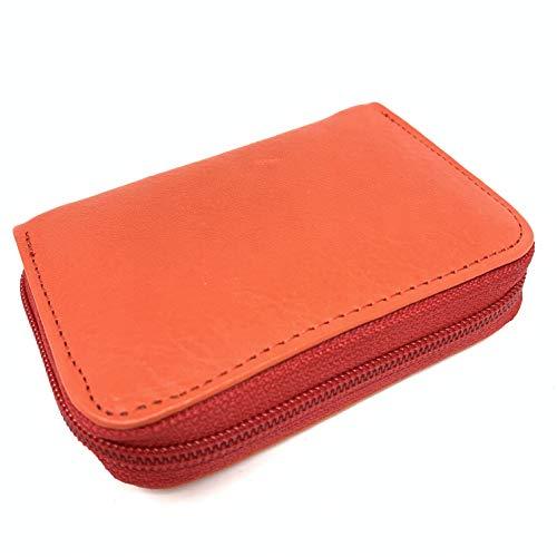 Reds Merk Mini Zipped Coin portemonnee houder Portemonnee Handgemaakte Echt Zacht Lederen portemonnees