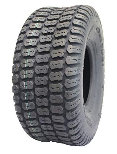 Deli Tire S-374, Turf Tread, 4 Ply, NHS, Tubeless, Lawn and Garden Tractor Tire (15x6.00-6)