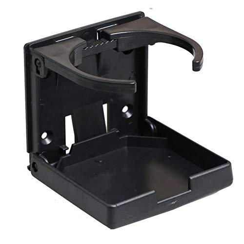 Ritapreaty 2-Pack verstelbare vouwbeker drankhouder auto vrachtwagen boot van huis plastic beker organisator, zwart
