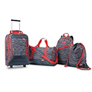 American Tourister Disney Softside Luggage, Mickey 4 Piece Set, (CS/BK/DF/19)