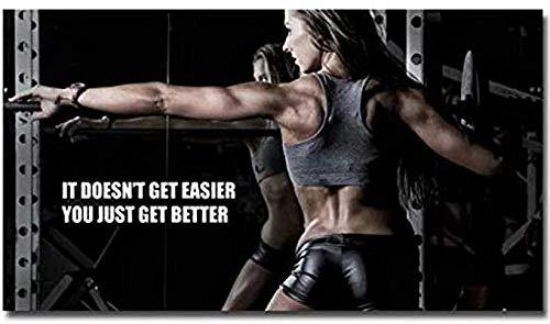 KELDOG® Fitness Sport Beeldpuzzels Houten puzzel 1000 stukjes, Bodybuilding Motiverend citaat Kunstpuzzels Speelgoed, Draagbaar Opgerold Geen lijm nodig