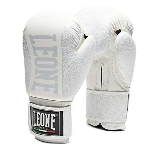 Leone 1963 Maori - Guantes de Boxeo Maori, Unisex, para Adulto, Blanco, 14 oz