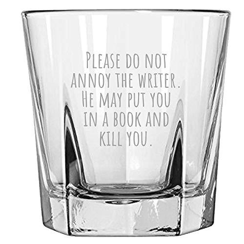 Grappige schrijver rotsen glas novelist cadeau-idee schrijven cadeau nooit rechter een boek door zijn film niet Annoy de schrijver Whiskey Tumbl