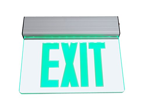 NICOR Lighting LED Emergency Exit Sign, Clear with Green Lettering (EXL2-10UNV-AL-CL-G-1)