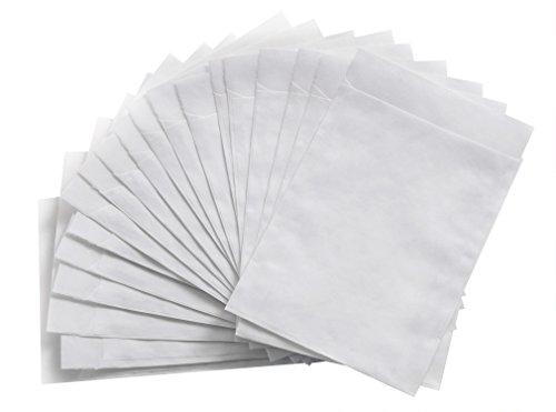 50 Stück kleine weiße MINI-Papiertüten Mini-Tüten Tütchen Papier 5,3 x 7,8 cm Verpackung für Blumensamen, Tabletten, Pillen, Globuli Mini-Gastgeschenke, Bonbon-Verpackung, für Sämereien Gärtnerbeutel