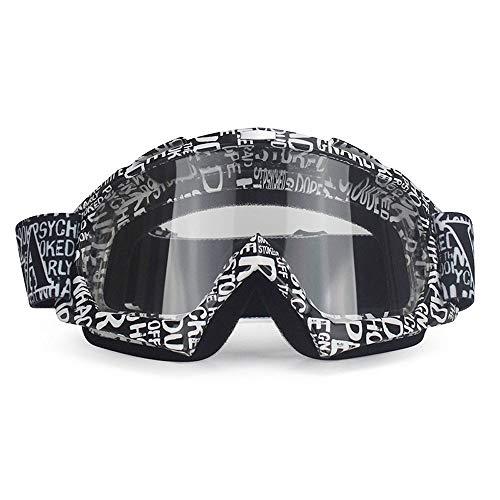Esquí Gafas de Motocross,Lentes Gafas de Moto antiniebla extraíbles Gafas de Exterior Off-Road Mountain Road Moto Accesorios