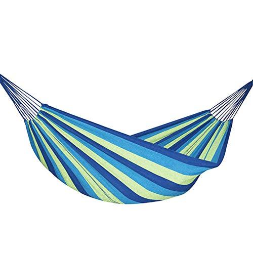 YZZ 240 * 150 cm 2 Persona Hamaca hamac al Aire Libre Cama Cama Colgando Cama Doble Dormir Lienzo Swing Hamaca Camping Caza (Color : Blue, Size : 200 * 100cm)