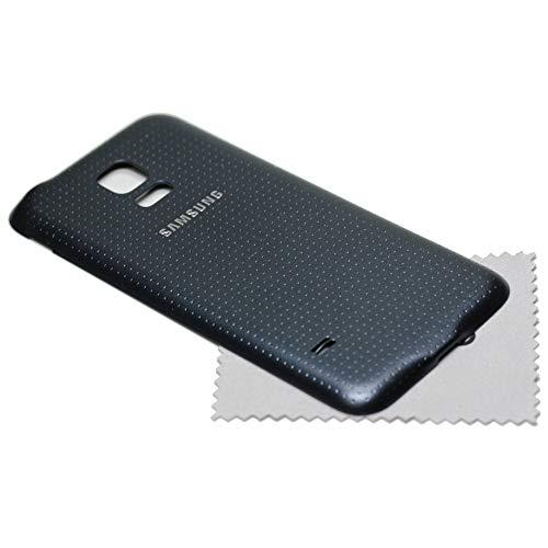 Tapa de batería para Samsung Original para Samsung Galaxy S5 Mini (G800F) Negro + mungoo Pantalla paño de Limpieza