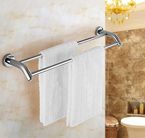 Amgend 1000 Mm Edelstahl Wandhalterung Beheizte Handtuchhalter Doppel Rack Saug Badezimmer Kleiderbügel Spiegel Poliert Regal Handtuchhalter