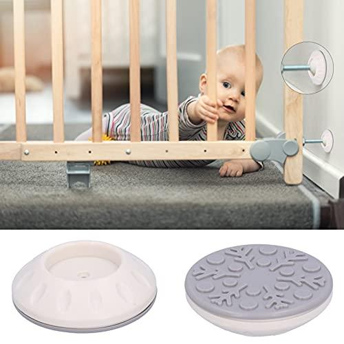 Protector de Pared para Puerta de bebé, Fácil de Instalar Accesorio de Pared para Puerta de Escalera No Deja Rastro Material de Almohadilla de TPR para Puertas de