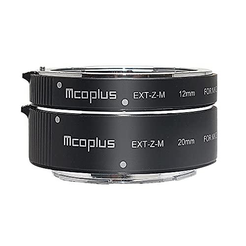 MCOPLUS EXT-Z-M 금속 자동 초점 매크로 확장 튜브 세트 (12MM + 20MM) 니콘 Z 마운트 Z5 Z6 Z6II Z7 Z7II Z50 Z62 Z72 카메라 매크로 사진