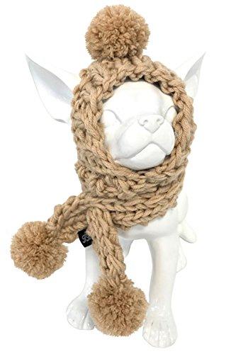 Trilly tutti Brilli Roger Dog 's Mütze mit Schal, Größe M, beige