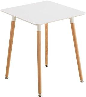 Table À Manger En Bois Pour 2-4 Personnes, Table À Manger De Loisirs Design Eiffel Carrée Simple, Table De Cuisine Avec Pi...