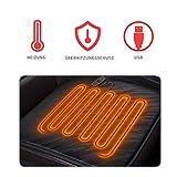 Cihely Cojín calefactor para asiento de coche, 12 V, térmico, control de...