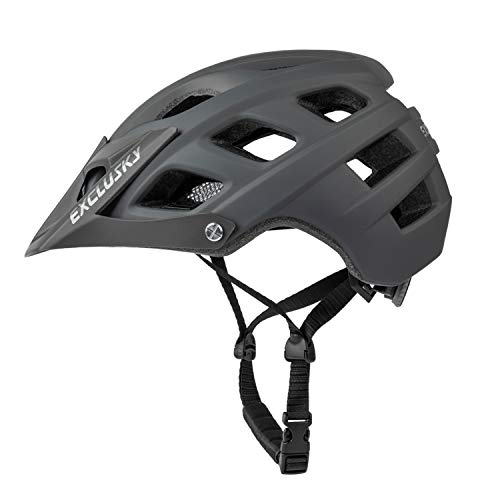 Bike Helmets Men CE Comfortable Breathable Lightweight Road Bike Helmet Fully Shaped with Adjustable Ultralight Strap Cycle Helmet Mens for 56-61cm EN1078 (Grey)