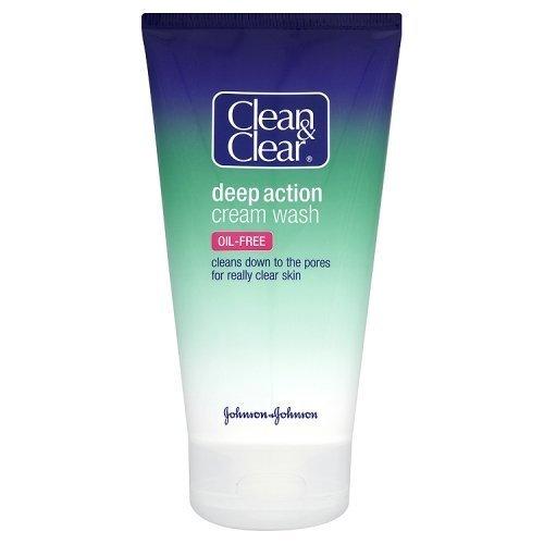 Crema limpiadora Clean and Clear Action,150ml, paquete de 2 unidades