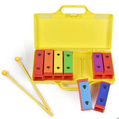 ENNBOM 8 Notes Chromatic Xylophone Glockenspiel Resonator Bells with...