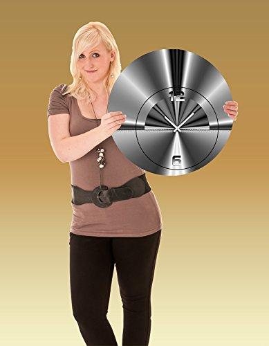 DIXTIME 5070 Designer Wanduhr, Wanduhren, Moderne Wohnraumuhr 50cm Durchmesser