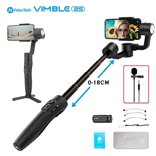 feiyu SPG (, Splash Waterproof Versione with Extra Battery and Trip) 3 assi Handheld Stabilizer Gimbal for GoPro Hero 5/4/3 and iPhone X/8/7/6 Huawei Samsung Galaxy Moto LG Smartphone