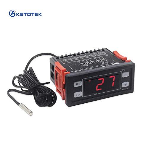 Temperaturregler 220V Digitale LED Temperatur Regler Thermostate Temperature Controller Heizung Sensor Temperature Controllers (12V)