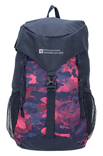 Mountain Warehouse Explorer 12L Backpack - Durable Small Rucksack, Airmesh Back Daypack, Pockets, High Vis, MP3 Compatible Bag - Best for Cycling, Travelling, Hiking Pink