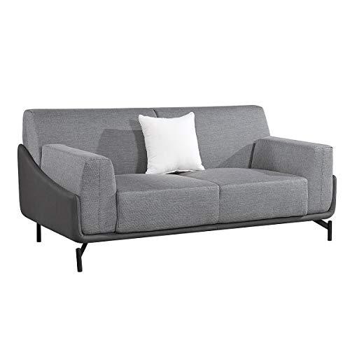 Sofá de 2 Plazas Campania Pärumm 175x90x80 cm Gris con Cojín