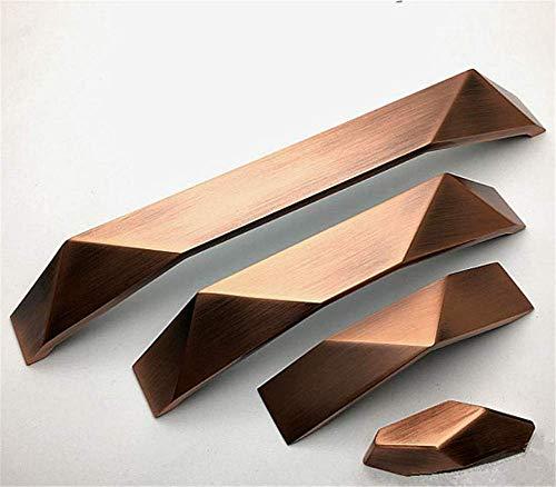 Molinter Möbelgriffe Schrankgriff Bogengriff Zinklegierung Schubladengriff Handgriff für Bücherschrank Kleiderschrank Schublade (Loch Distanz: 192mm, Kupfer)