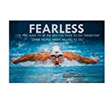 ZYHSB Leinwandbild Michael Phelps Inspirational Quote
