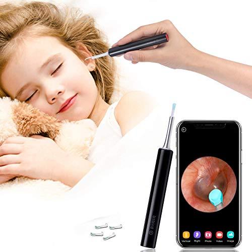 Ohrreiniger Ohrenschmalz Entferner Endoskop Ohr Kamera - 1080p FHD Drahtlos Otoskop 6 LED Lichter Wachs Entfernen Ohrenschmalzreiniger Sicher Weich Ohrwachs Reiniger der Satz Für Kinder und Erwachsene