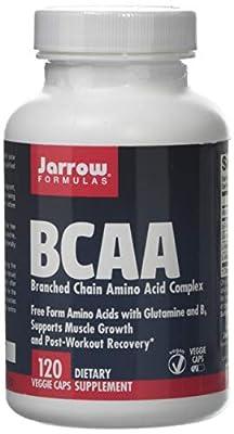 Jarrow BCAA Branched Chain Amino Acid Complex (with Glutamine & B6, 120 Capsules) by Jarrow FORMULAS