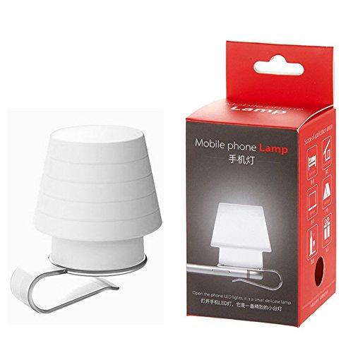 TJW Handy-Lampenschirm-Halter, Lesezeichen, Silikon, weich, Mini-LED-Licht mit Clip, Ständer und...