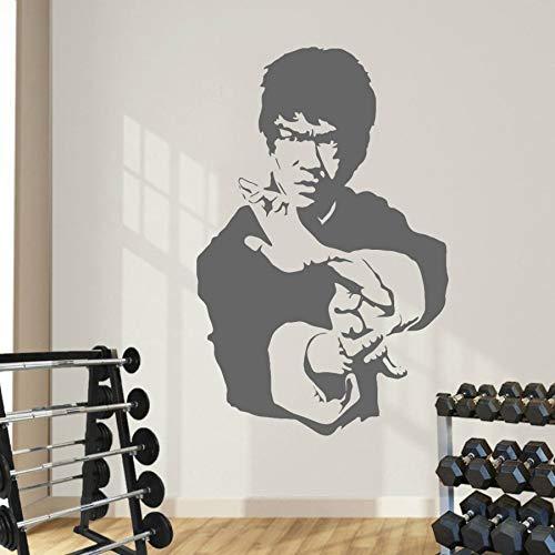 JJHR Wandtattoos Wandaufkleber Kung Fu Stern Bruce Lee Aufkleber Wandaufkleber Kunst Dekoration Schlafzimmer Tapeten Wandbilder Poster 42 * 65 cm