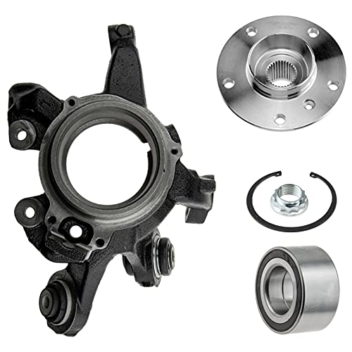 1 manguito de eje, 1 cojinete de rueda, anillo sensor ABS, 1 buje de rueda de eje trasero izquierdo.